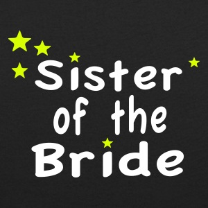 Star Sister of the Bride T-shirts - T-shirt med u-ringning dam