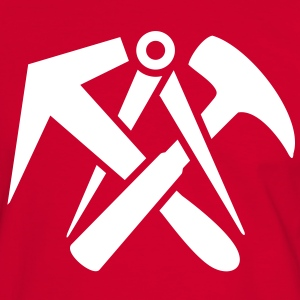 Roofers guild signs hammer tool logo T-Shirts - Men's Ringer Shirt