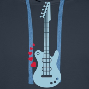A Guitar for a Love Serenade Hoodies & Sweatshirts - Men's Premium Hoodie