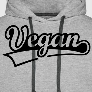Vegan vegetarian animal welfare Go veggie Go green Hoodies & Sweatshirts - Men's Premium Hoodie