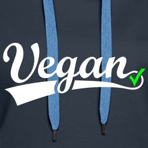 vegan vegetarian animal Welfare Go veggie Go green Hoodies & Sweatshirts - Women's Premium Hoodie