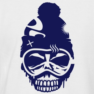 A skull with snowboard goggles and a cap T-Shirts - Men's Baseball T-Shirt