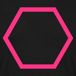 Black Hexagon Outline Men's Tees - Men's T-Shirt