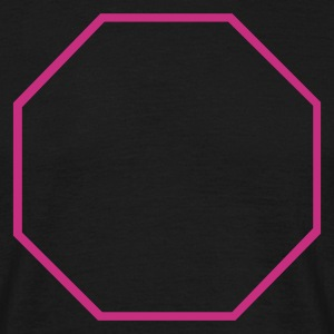 Black Octagon Outline Men's Tees - Men's T-Shirt