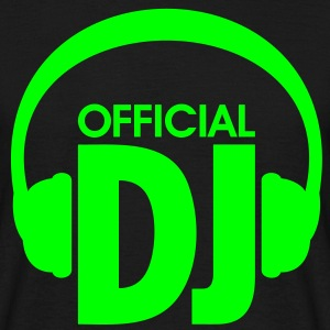 Official DJ, Casque DJ - officiel. Techno Musique  Tee shirts - T-shirt Homme