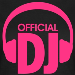 Auriculares - Official DJ. Techno Dance Rave House Camisetas - Camiseta mujer