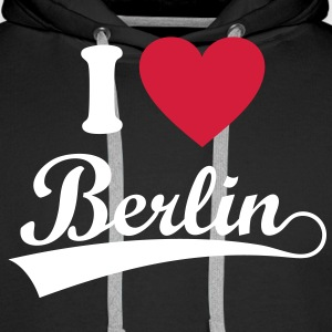 love Berlin. Sweat-shirts - Sweat-shirt à capuche Premium pour hommes