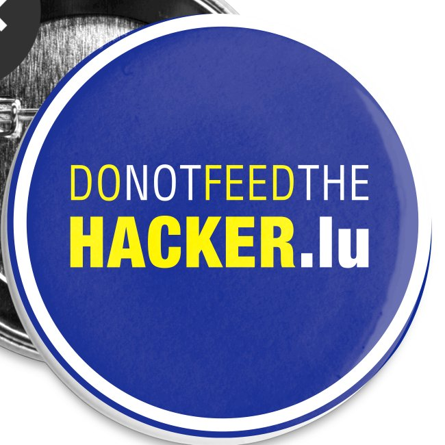 Do not feed the Hacker! (Blue L)