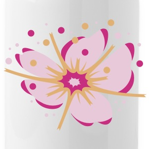 A cherry blossom with pollen Bottles & Mugs - Water Bottle