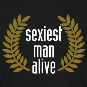 sexiest man alive T-Shirts - T-skjorte for menn