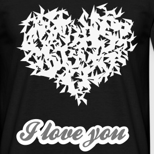 i love you - Motif vectoriel 2 Couleurs modifiable - T-shirt Homme