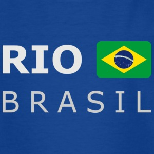 Teenager T-Shirt RIO BRASIL white-lettered - T-skjorte for tenåringer