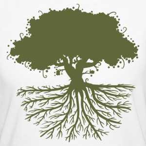 tree roots green T-Shirts - Frauen Bio-T-Shirt
