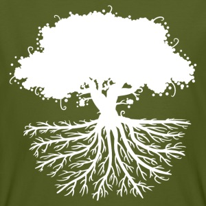 tree roots white T-Shirts - Männer Bio-T-Shirt