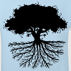 tree roots black T-Shirts - Kinder Bio-T-Shirt