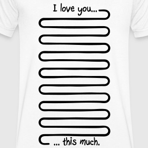 I love you this much Tee shirts - T-shirt Homme col V