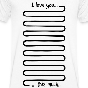 I love you this much Tee shirts - Mannen T-shirt met V-hals