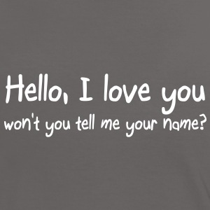 Hello I love you T-shirts - Vrouwen contrastshirt