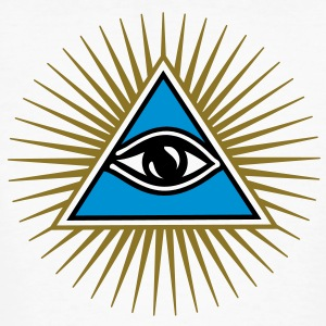 all seeing eye - eye of god - 1-3 colors - symbol of Omniscience & Supreme Being T-Shirts - Men's Organic T-shirt