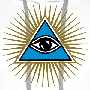 all seeing eye - eye of god - 1-3 colors - symbol of Omniscience & Supreme Being Gensere - Premium hettegenser for menn