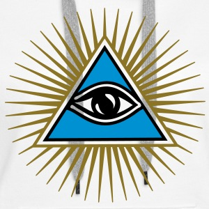 all seeing eye - eye of god - 1-3 colors - symbol of Omniscience & Supreme Being Gensere - Premium hettegenser for kvinner