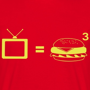 TV = Obesity T-Shirts - Men's T-Shirt
