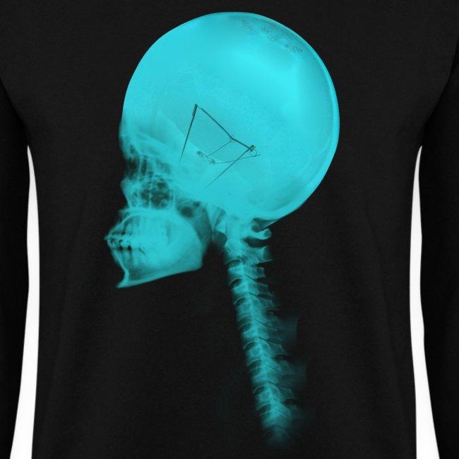 sudadera luminance  blue skull