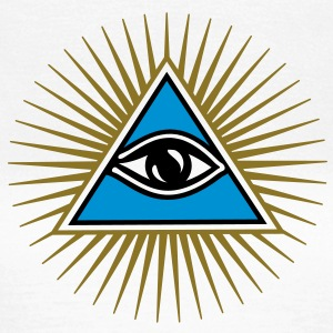 all seeing eye - eye of god - 1-3 colors - symbol of Omniscience & Supreme Being T-Shirts - Women's T-Shirt