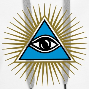 all seeing eye - eye of god - 1-3 colors - symbol of Omniscience & Supreme Being Tee shirts - Sweat-shirt à capuche Premium pour femmes