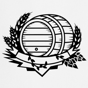 beer barrel with hops and ears of wheat  Aprons - Cooking Apron