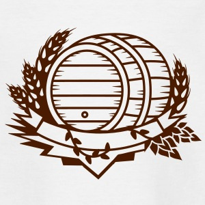 beer barrel with hops and ears of wheat Shirts - Kids' T-Shirt