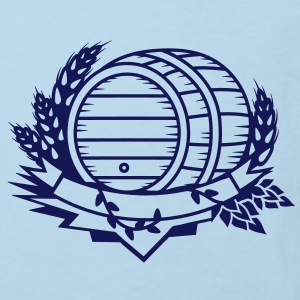 beer barrel with hops and ears of wheat Shirts - Kids' Organic T-shirt