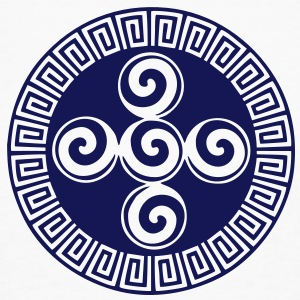 Aztec symbol creation, spiral, native american,  T-shirts - Organic mænd