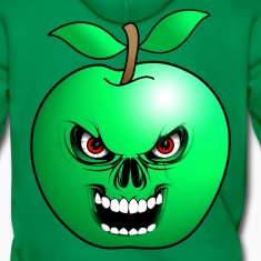 green apple skull Hoodies & Sweatshirts