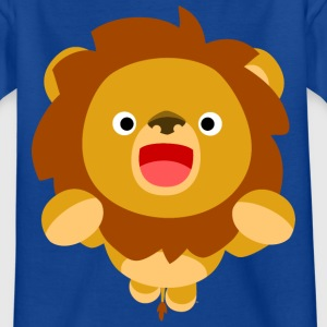 Hi! Cute Playful Cartoon Lion Cheerful Madness!! Shirts - Kids' T-Shirt