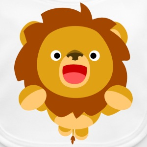 Hi! Cute Playful Cartoon Lion Cheerful Madness!! Accessories - Baby Organic Bib
