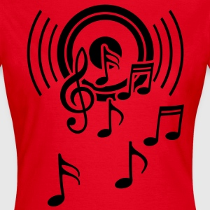 Speakers. Sheet music, music, treble clef  T-Shirts - Women's T-Shirt