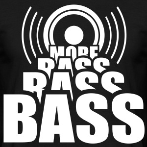 More BASS. Speaker Speaker Cab music T-shirts - Mannen T-shirt