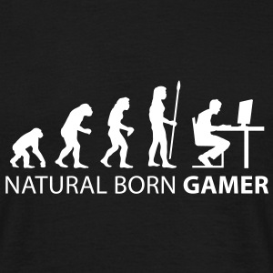 evolution_born_gamer1 T-Shirts - Men's T-Shirt