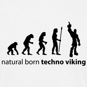 evolution_techno_viking T-Shirts - Men's T-Shirt