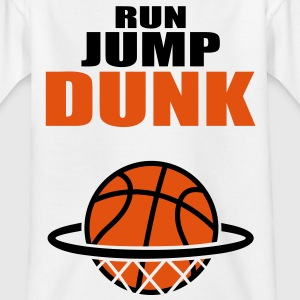Run Jump Dunk basketball Basket Ball T-Shirts - Kids' T-Shirt