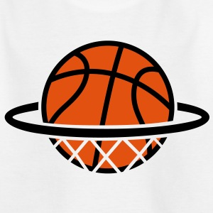 Basketbal. Basketbal in de mand. Dunk Dunking Shirts - Kinderen T-shirt