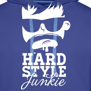 i love hardstyle dubstep moustache dance music Sweaters - Mannen Premium hoodie