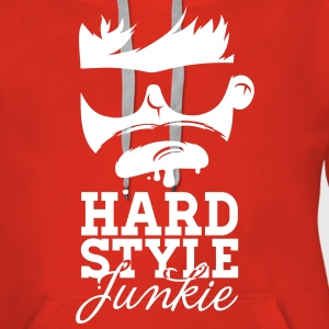 i love hardstyle dubstep moustache dance music Sweaters - Vrouwen Premium hoodie