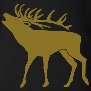 stag night deer moose elk antler antlers horns Shirts - Organic Short-sleeved Baby Bodysuit