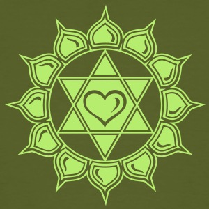Heart chakra - Anahata, c, Centre of love and compassion T-shirts - Mannen Bio-T-shirt