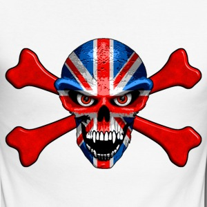 union jack skull Long sleeve shirts - Men's Long Sleeve Baseball T-Shirt