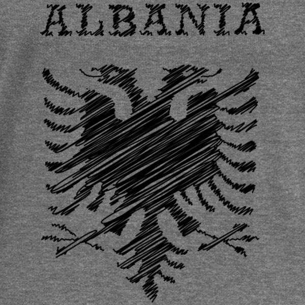 Albania, scribble black Sweat-shirts - Pull Femme col bateau de Bella