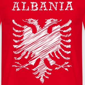 Albania, scribble white Tee shirts - T-shirt Homme