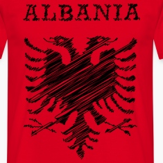 Albania, scribble black T-Shirts
